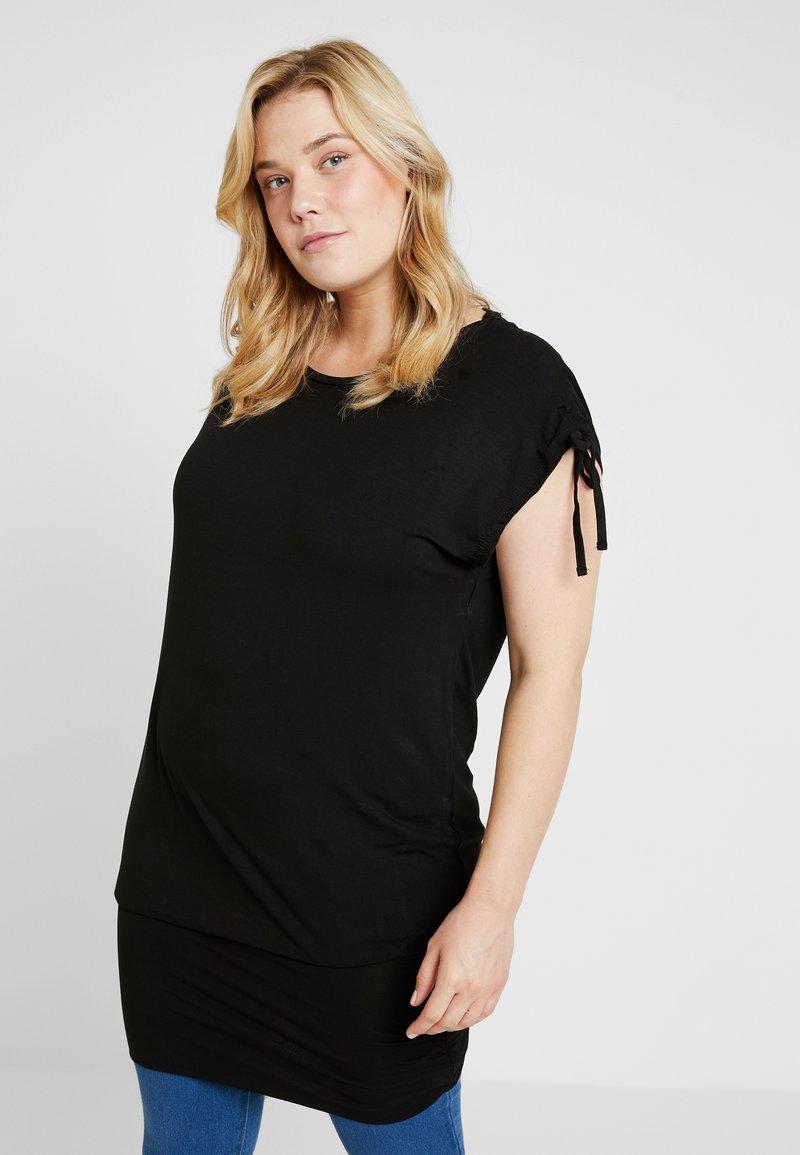 Simply Be - BAND HEM TUNIC - T-Shirt print - black