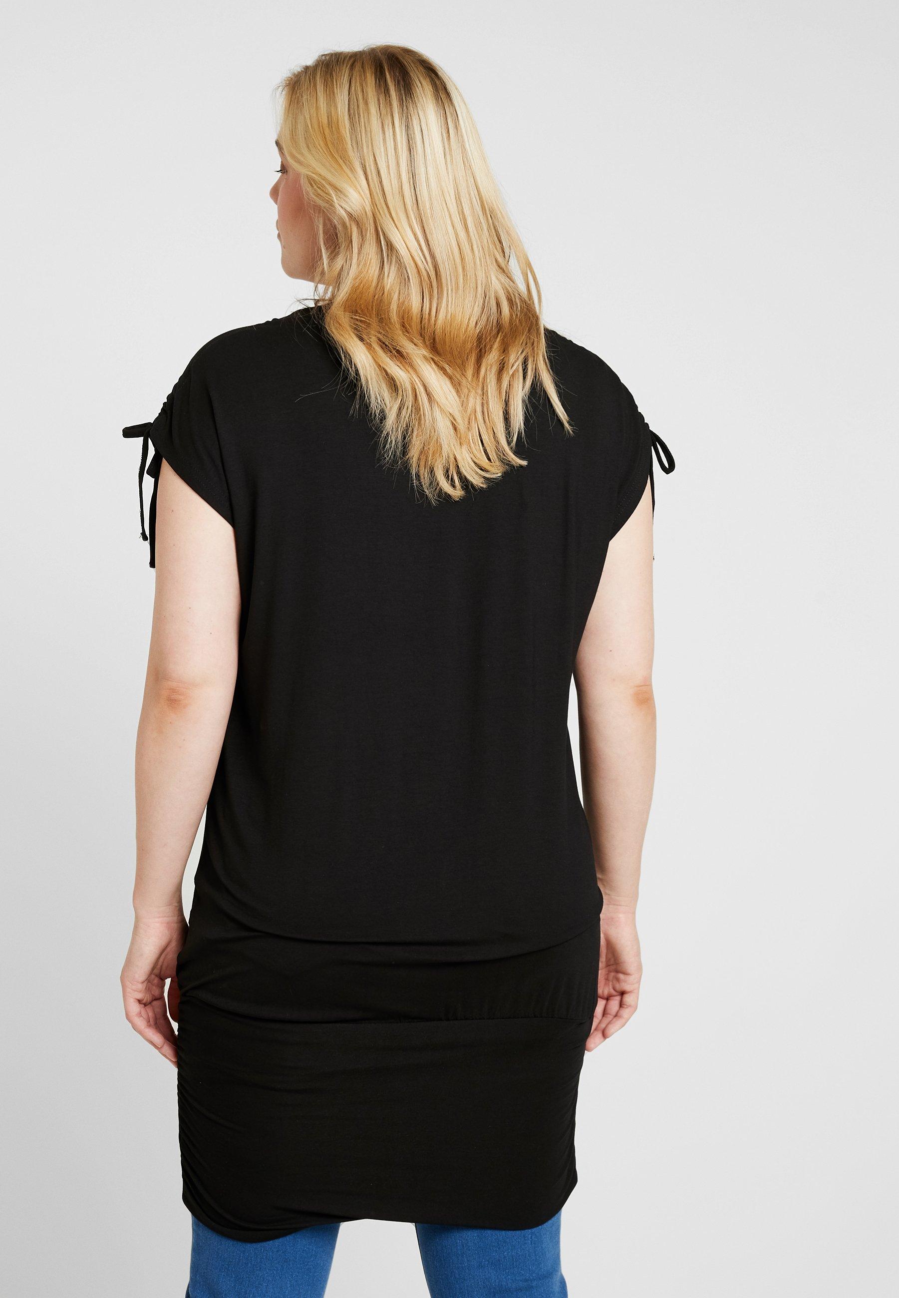 Stampa Simply Be shirt Black Band Hem TunicT Con XZiOPku