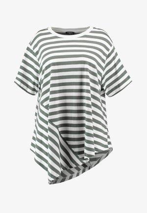 SIMPLY BE ASYMMETRIC - T-shirt con stampa - grey/white