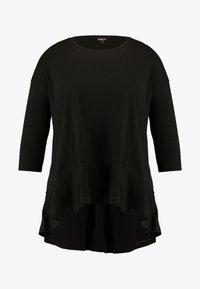Simply Be - FRILL HEM 3/4 SLEEVE - T-shirts med print - black - 4