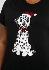 Simply Be - NOVERLTY SEQUIN DALMATION - Print T-shirt - black - 4