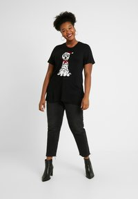 Simply Be - NOVERLTY SEQUIN DALMATION - Print T-shirt - black - 1