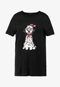 Simply Be - NOVERLTY SEQUIN DALMATION - Print T-shirt - black - 3