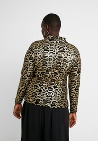Simply Be - HIGH NECK EMBOSSED LEOPARD - Blouse - black/gold - 2