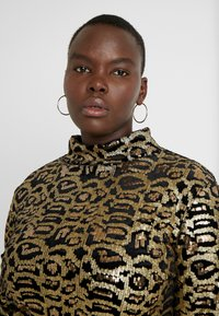 Simply Be - HIGH NECK EMBOSSED LEOPARD - Blouse - black/gold - 4