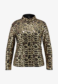 Simply Be - HIGH NECK EMBOSSED LEOPARD - Blouse - black/gold - 3