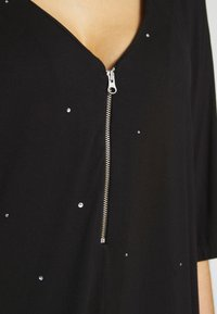 Simply Be - ZIP FRONT DIAMANTE  - Tunique - black - 5