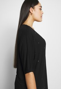 Simply Be - ZIP FRONT DIAMANTE  - Tunique - black - 3