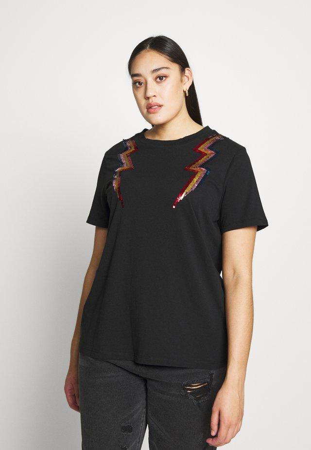 SEQUIN EMBELLISHED MOTIF  - T-shirts print - black