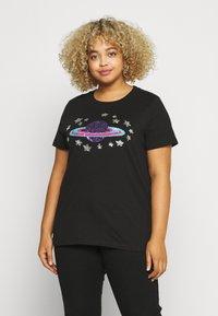 Simply Be - SEQUIN - T-shirts print - black - 0