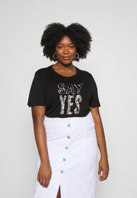 Simply Be - SEQUIN - T-shirts med print - black - 0