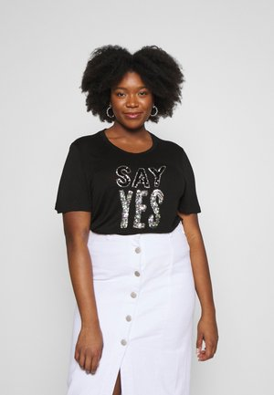 SEQUIN - T-shirts print - black