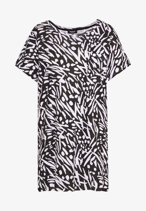 VALUE DROP SHOULDER - T-shirts med print - black/white