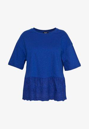 PEPLUM HEM - T-shirts print - blue