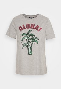 Simply Be - SEQUIN - T-shirts print - grey marl - 4
