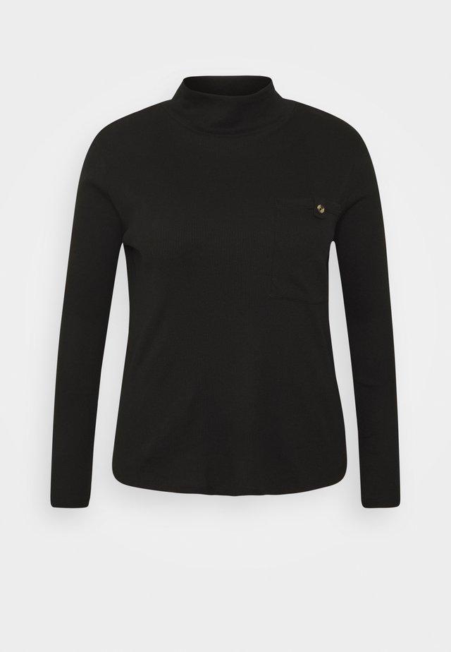 BOXY UTILITY TOP - Langærmede T-shirts - black