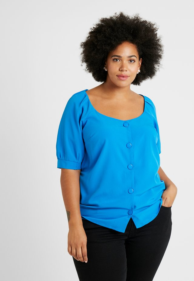GATHERED TEA BLOUSE - Blouse - blue