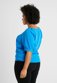 Simply Be - GATHERED TEA BLOUSE - Camicetta - blue - 2