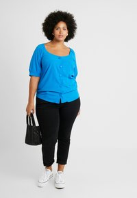 Simply Be - GATHERED TEA BLOUSE - Camicetta - blue - 1
