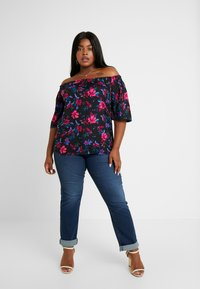 Simply Be - 3/4 SLEEVE COLD SHOULDER - Blouse - black - 1