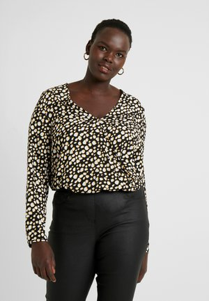 PRINTED BODY - Blusa - ochre/black