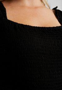 Simply Be - SQUARE NECK - Camiseta estampada - black - 5