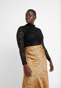 Simply Be - HIGH NECK LAYERING - Blus - black - 0