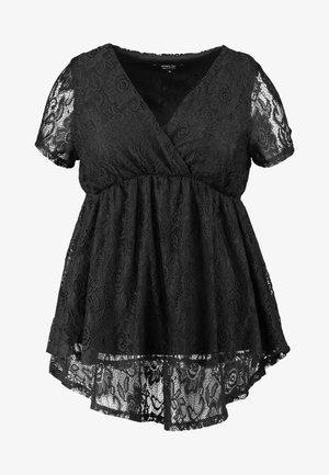 WRAP TUNIC - Blouse - black
