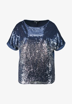 SEQUIN BOXY - Blouse - navy ombre
