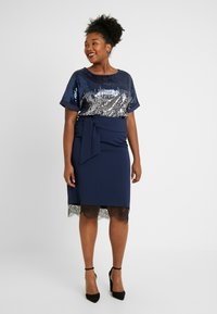 Simply Be - SEQUIN BOXY - Blouse - navy ombre - 1
