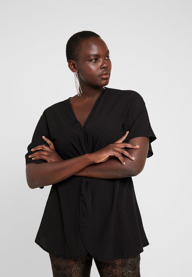 TWIST FRONT TOP - Blouse - black