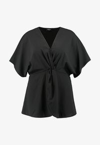 Simply Be - TWIST FRONT TOP - Blouse - black - 3