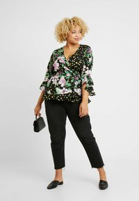 Simply Be - MIXED PRINT WRAP - Bluser - black - 1