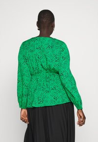 Simply Be - V-NECK TIE FRONT - Blouse - green spot - 2