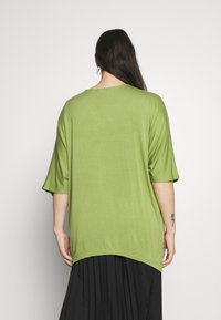 Simply Be - RING DETAIL  - Langærmede T-shirts - olive - 2