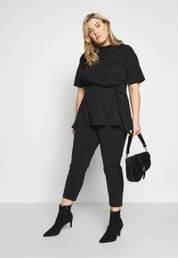 Simply Be - SLINKY TIE WAIST - T-shirts print - black - 1
