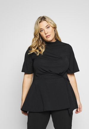 SLINKY TIE WAIST - T-shirt med print - black