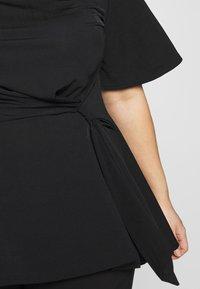 Simply Be - SLINKY TIE WAIST - T-shirts print - black - 5