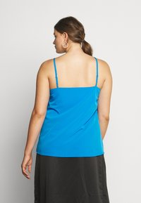 Simply Be - FACED CAMI - Toppe - blue - 2