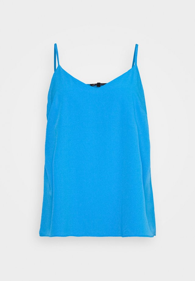 FACED CAMI - Toppe - blue