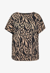 Simply Be - BUTTON TAB SLEEVE ROUND NECK TOP - Bluser - shadow spot tbc colour - 5