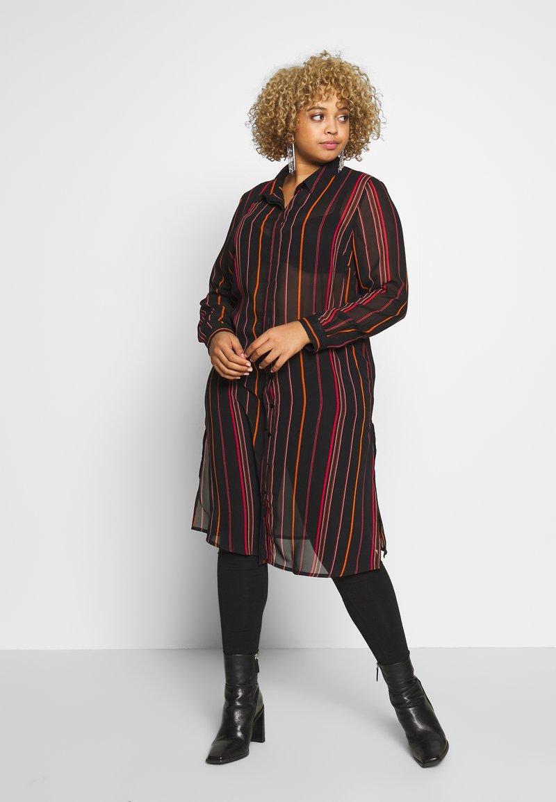 Simply Be - LONGLINE SPLIT SIDE - Button-down blouse - multicolor