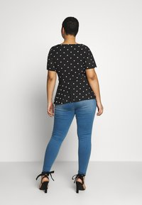 Simply Be - TWIST FRONT V NECK  - Blouse - black - 2