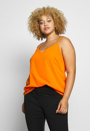 V NECK FACED  - Bluser - burnt orange
