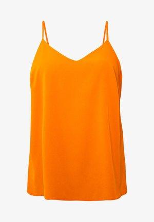 V NECK FACED  - Blouse - burnt orange