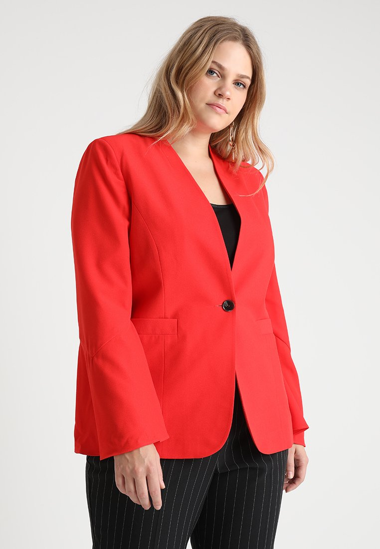 CAPSULE by Simply Be - FRILL SLEEVE - Blazer - red