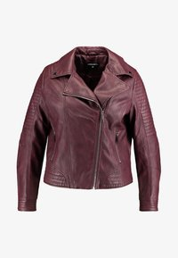 CAPSULE by Simply Be - BIKER - Faux leather jacket - berry - 3