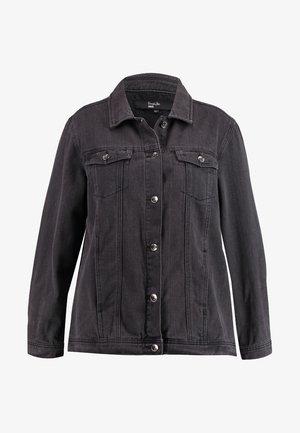 OVERSIZED JACKET - Jeansjakke - black denim