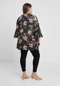 Simply Be - MIX PRINT KIMONO - Lehká bunda - black