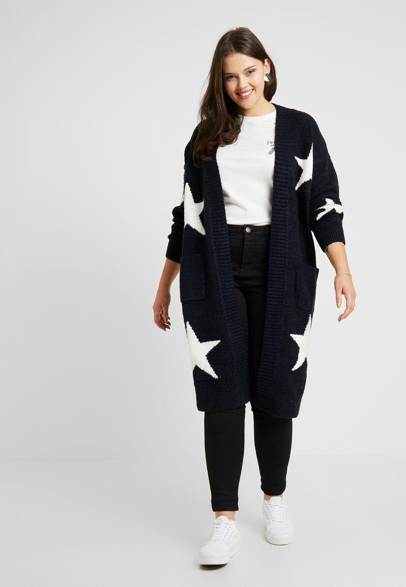 Simply Be - ELEVATED ESSENTIALSEDGE TO EDGE - Chaqueta de punto - navy star